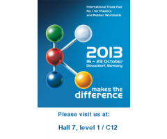 RESINEX attends K 2013, No. 1 Plastic Fair Worldwide, 16 - 23 October 2013, Düsseldorf, Germany